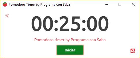 Pomodoro timer by Programa con Saba screenshot Desktop